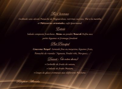 Menu traditionnel